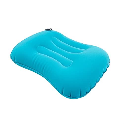 SONG Almohada for Acampar, Almohada de Viaje Inflable Ligero comprimido cómodo cómodo Almohada ergonómica for al Aire Libre (Color : Blue)