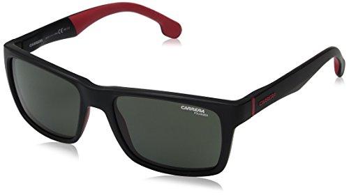 Carrera 8024/S UC 003 Gafas de sol, Negro (Matt Black/Green Pz), 55 Unisex-Adulto