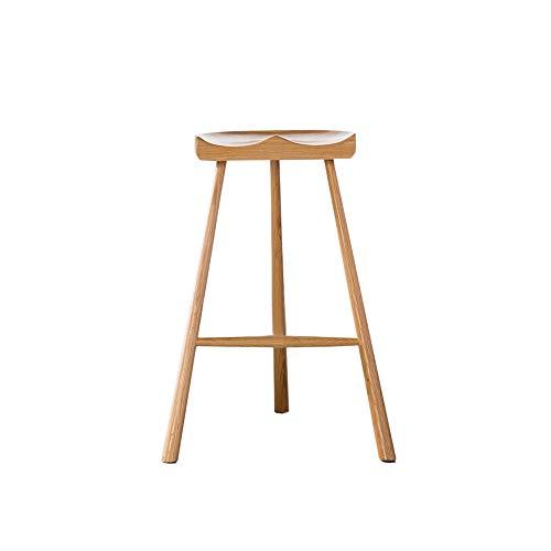 Zuiver massief hout barkruk bank hoogte 65 cm (26 inch), massief hout structuur massief hout kussen, hout verf, voor restaurants, bars, cafés, receptie