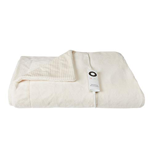 Berkshire Electric Throw Blanket with Intellisense - Cream - 50'x62' Plush Heated Throw