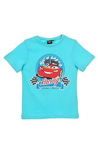 Cars Jungen T-Shirt | Kinder Kurzarm Shirt 128 / türkis