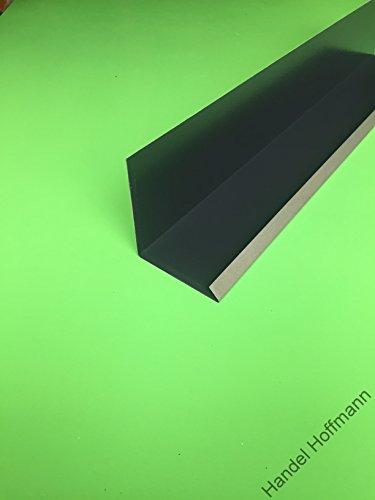 Wandanschlußblech 2 m lang Aluminium farbig 0,8 mm (mittel, Anthrazit RAL 7016)