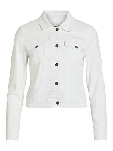 OBJECT OBJWIN New Jacket Noos Chaqueta de jean, Blanco Denim, 38 para Mujer