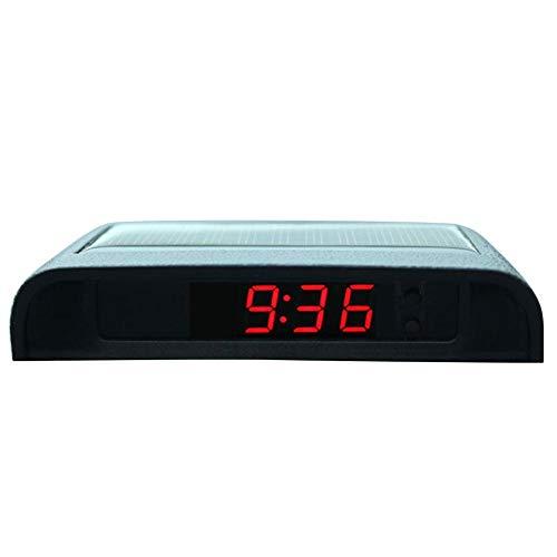 Auto Uhr Solar Luminous, Auto Hochpräzise Elektronische Uhr, Auto Uhr Und Thermometer Ohne Kabel, Um Mit Dem Auto Zu Beginnen, 24 Stunden Mit Eingebauter Batterie Auto Dekoration