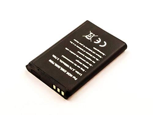 AccuCell Li Ion Akku ersetzt den Nokia Original Akku BL-5C 3,7V 1000mAh I Batterie Nokia BL-5CB I Akku A051 I LN-4C I Accu Nokia BL-5CA & NKBF01 Handy Batterie Nokia BR-5C Maße 53,0x34,0x6,0 mm