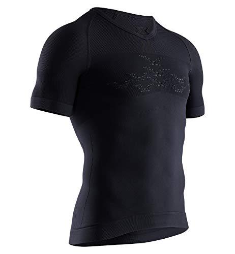 X-Bionic Energizer 4.0 Light Shirt V Neck Short Sleeve Men Homme, Opal Black/Arctic White, FR : M (Taille Fabricant : M)