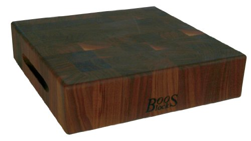 John Boos Block WALCCB183S Classic Reversible Walnut Wood End Grain Chopping Block 18 Inches x 18 Inches x 3 Inches