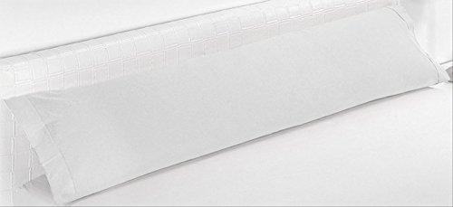 ForenTex - Funda de Almohada, (BS-1531), Cama 90 cm, 100 x 45 cm, Blanco, 100% Microfibra, máxima transpiración y frescura