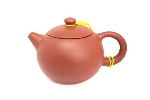 Tea Soul Zisha 300 ml, typische chinesische Teekanne aus einem bestimmten roten Ton aus Yixing, Keramik, braun, 13 x 9 x 7.5 cm
