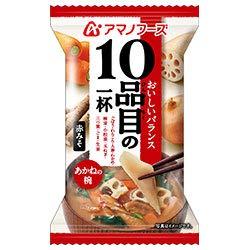 アマノフーズ フリーズドライ 10品目の一杯 あかねの椀(赤みそ) 10食×6箱入×(2ケース)