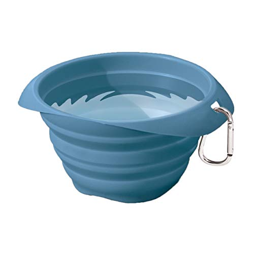 Kurgo Collapsible Travel Dog Bowl Pet Food amp Hiking Water Bowl Food Grade Silic1 Bowl for Dogs Travel Accessories for Pets BPA Free Carabiner Collaps a Bowl Mash n' Stash Zippy Bowl