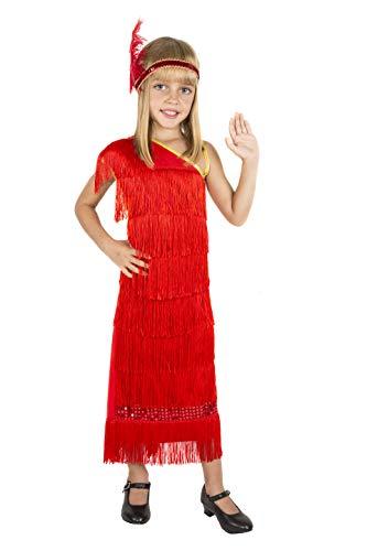 Costumizate! Disfraz de Charleston Talla 4-6 Especial para niños Fiestas de Disfraces o Carnaval