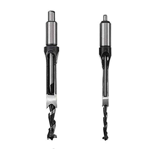 Viudecce 2Pcs Woodworking Square Hole Drill Bits Wood Mortising Chisel Set Mortise Chisel Bit Kits Woodworking Hole Saw Sets
