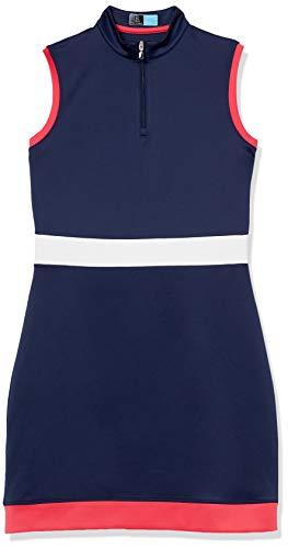 PGA TOUR Women's Standard Color Block Mock Neck Sleeveless Golf Shirt, Brilliant White, Extra