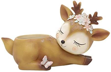 Cute Deer-Resting Succulent Planter Pots House for Special Campaign Max 49% OFF Balcon Office