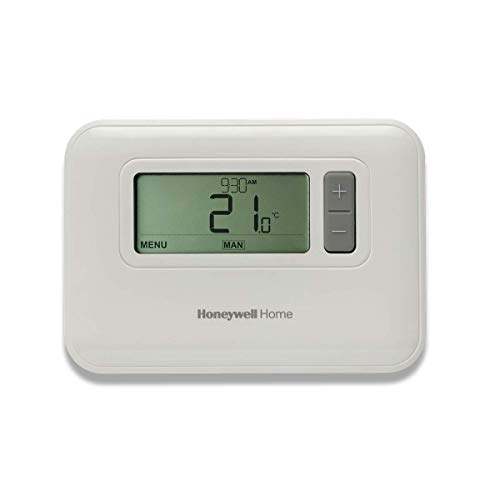 Honeywell Home T3C110AEU Thermostat programmable sur 7 Jours Filaire T3, Blanc, 136 x 97 x 26 mm