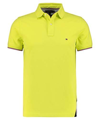 Tommy Hilfiger Herren Poloshirt Slim Fit Kurzarm Limone (40) XL
