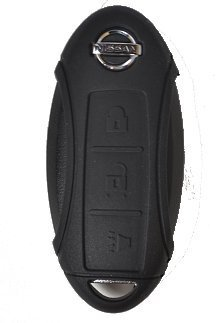 Silicone Key Fob Case Cover Fits Nissan 3 Button Remote Key Fob New (Black)