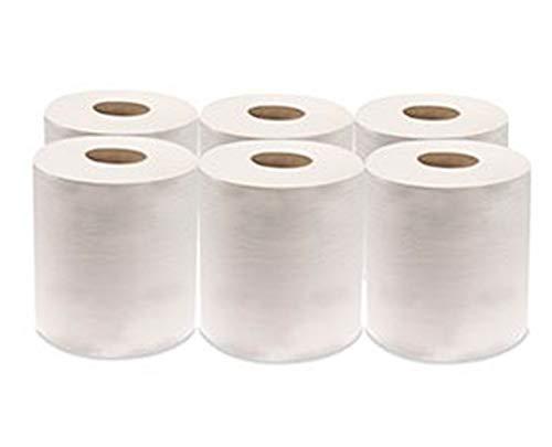Rollo de Papel Cheminé   Papel secamanos. Uso profesional, alta resistencia y gran absorción.Pack de 6 Uds. 2700 hojas - 100 m/rollo