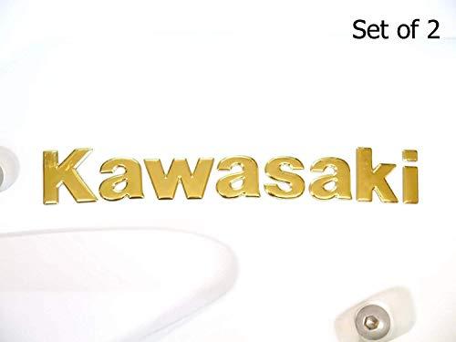 180X22mm Gold Kawasaki Motorrad Abzeichen Emblem Motorrad Kraftstofftank Aufkleber
