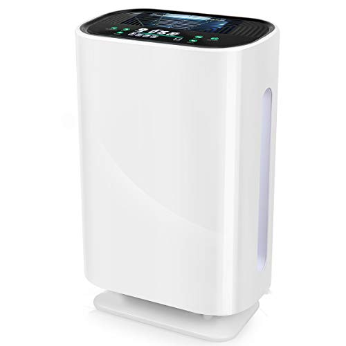 Haoyehome Air Purifier for Home Large Room, Bedroom, Office, Medical Grade HEPA Filter Air Purifiers for Filters Allergies, Pets, Pollen, Dust, Quiet 20 inch Air Purifier with 4 stage Filtration