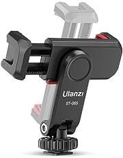 新版 Ulanzi 三脚スマホホルダー カメラスマホモニターマウント 360°回転 角度調整 スマホホルダー アクセサリーシュー付き スマホマウント 垂直ブラケット 1/4ネジ スマートフォン三脚マウント iPhone/Android/カメラ/一眼レフ/ミラーレス/a7iii/ZV-E10/三脚/自撮り棒