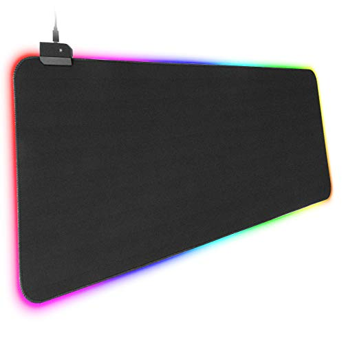 ACEHE RGB Gaming Mouse Pad Large Mouse Mat (780×300×4 mm) with Non-Slip Rubber Base, Soft Cloth Surface Gaming Mousepad for MacBook PC Laptop Desk
