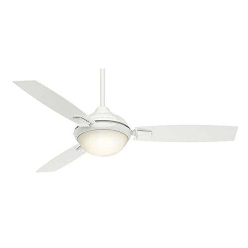 Casablanca Indoor / Outdoor Ceiling Fan with LED Light and remote control - Verse 54 inch, White, 59158