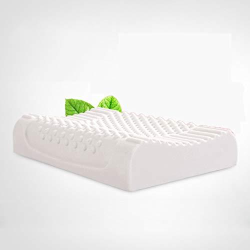 J-Almohada Almohada cervical del sueño de la ayuda del látex del adulto, sola almohada de la salud del sueño (sola) los 50 * 30 * 9cm, los 60 * 40 * 12cm ( color : Breathable , Tamaño : 60*40*12cm )
