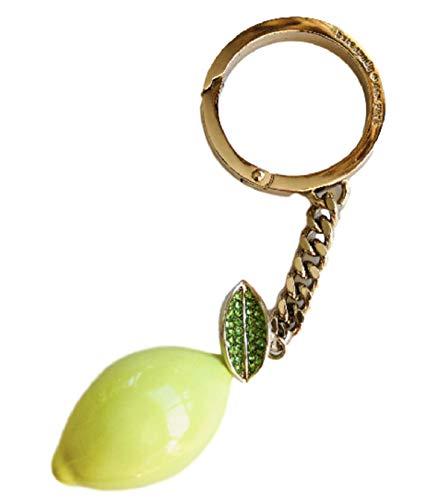 Kate Spade New York Lemon Zest Yellow Key Fob Key Chain Ring, Medium