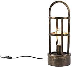 QAZQA Art Deco Art Deco tafellamp brons 41 cm - Kevie Aluminium/Staal Rond/Langwerpig Geschikt voor LED Max. 1 x 40 Watt