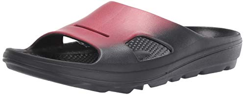 Spenco Men's Flip Flop Slide Sandal, Red, 10
