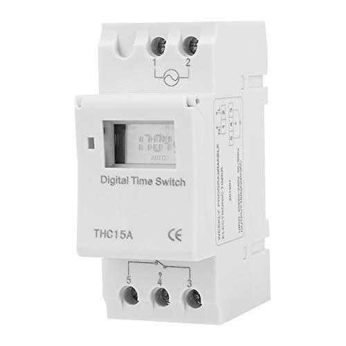 Weikeya Interruptor de Control de Tiempo Transparente, -25 - + 70 ℃ 1 Minuto a 168 Horas Establecer Tiempo 60 días Función de Tiempo con plástico