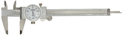 """Fowler Full Warranty Stainless Steel Shockproof Dial Caliper, 52-008-706-0, 0-6"""" Measuring Range, 0.001"""" Graduation Interval, Face Color White"""