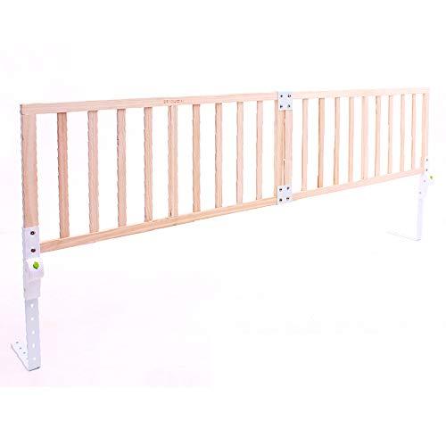 Barrières de lit LHA de bébé en Bois Massif incassable pour bébé Grand déflecteur de lit Pliable (Taille : L-220cm)