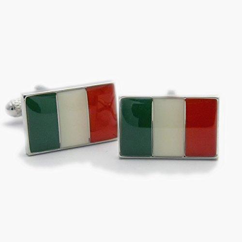 Boutons de manchette fantaisie – Italie Drapeau italien