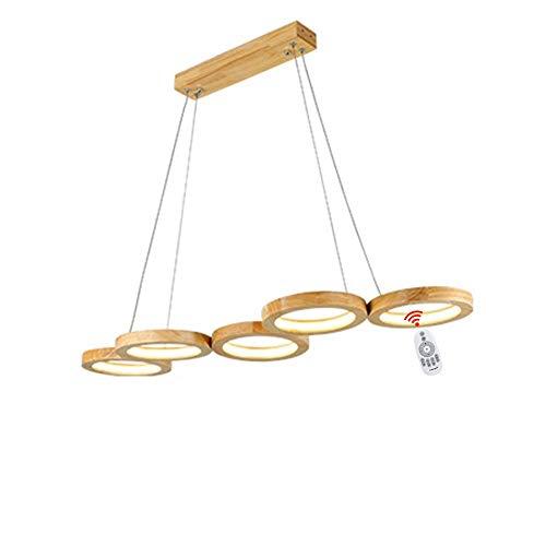 Wandun LED Hängeleuchte esstisch Pendelleuchte Holz rustikal Designer Lampe für Esstisch Küche Arbeitszimmer Wohnzimmer Bar Cafe Hängelampe Höhenverstellbar [Energieklasse A++]