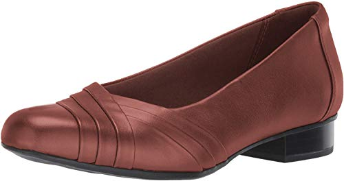 Clarks Women's Juliet Petra Pump, tan Leather, 10 M US