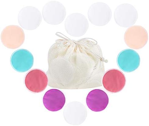 Langsprit Leak Proof Reusable Bamboo Nursing Pads 14 Pack Super Absorbent Washable Breast Pads product image
