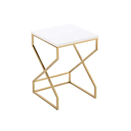 HZWDD Nest of 2 Tables High Gloss Nesting Small Coffee Table Gold End Side Tables Living Room Small Spaces Side End Snack Table,Living Room Furniture