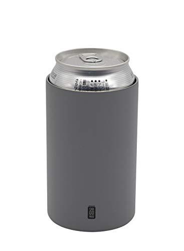 シービージャパン 缶 ホルダー グレー 350ml 保温 保冷 ステンレス 真空 断熱 CAN GOMUG