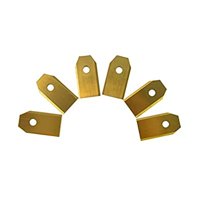 UKCOCO 6PCS 7.5MM Replacement Robotic Lawn Mower Titanium Blade with Screws, for All Husqvarna Automower (Golden)