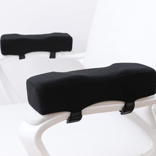 LargeLeaf Chair Extra Thick Ergonomic armrest Cushions Elbow Pillow Pressure Relief Office Chair Gaming Chair armrest with Memory Foam armrest Pads 2-Piece Set of Chair