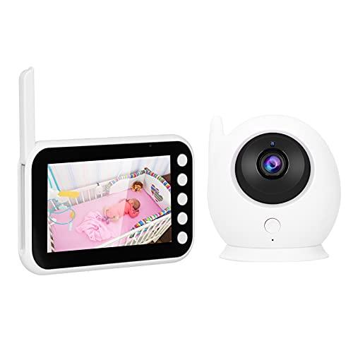 Monitor de vídeo para bebés HD de 4,3 pulgadas, noche infrarroja, intercomunicador bidireccional, monitorización de temperatura, monitor para bebés, cámara de monitorización para bebés(EU)
