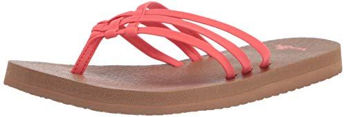 Sanuk Women's Yoga Sandy Sandal, Coral, 9 M US