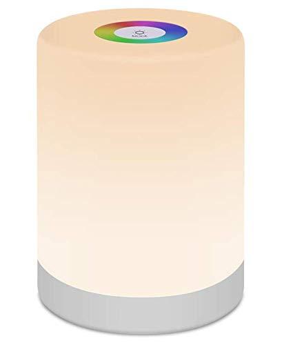 ZYLZL Ligero Lámpara de Noche Escritorio Inteligente Luces Nocturnas Regulable Led Casa Control Tactil Cobrable,Habitación Cámping Familia Luz para Leer/A/Como se muestra