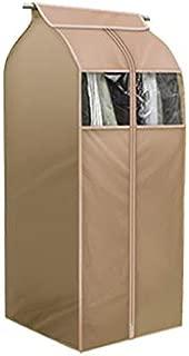 Tsing 1 Pack Garment Cover 420D Nylon Oxford Fabric Storage Bag-Beige-20''W23''D43''H
