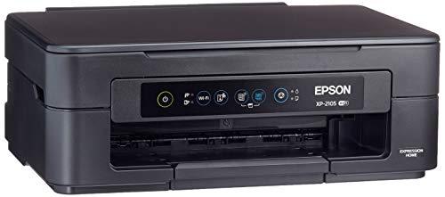 Epson Expression Home XP-2105 - Impresora multifunción 3 en 1 (escáner, fotocopiadora, Wi-Fi, Cartuchos Individuales, 4 Colores, DIN A4), Color Negro