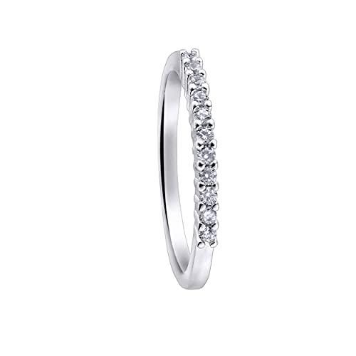 Anillo Durán Exquse de la colección Pretty Jewels realizado en plata 925 media alianza 11 circonitas