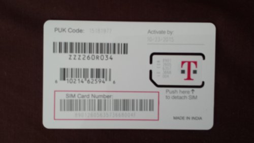 T-Mobile Standard SIM Card for Any Unlocked GSM Phone (No Annual Contract)